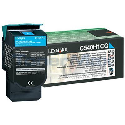LEXMARK C540 C543 TONER CARTRIDGE CYAN RP 2K